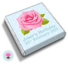 Personalised Polka Dot ROSE Shabby Chic Birthday Party Favour Chocolates (BLUE)
