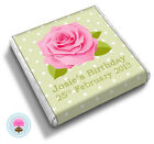Personalised Polka Dot ROSE Shabby Chic Birthday Party Favour Chocolates (GREEN)