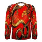 Chinese Red Dragon Long Sleeve T-Shirt All Over Sublimation Print Tattoo Art