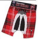 Scottish Kilt Boxer Shorts Royal Stewart Tartan Mens Size S, M, L, XL  Scotland