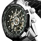 Mens Classic Automatic Mechanical Steampunk Stainless Steel Military Wrist Watch image