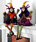 Witch Figure Posable Halloween Decoration rzh 3319090or NEW RAZ Imports