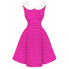 Dolly & Dotty Sally A Pois Retro Vintage 1950s Marinara Abito Da Pinup