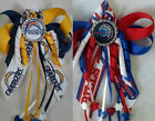 Football LA Chargers or Buffalo Bills Hair Bow with Beads $4.99 USD on eBay