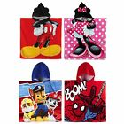 Children Kids Official Licenced 120cm X 60cm Cotton Poncho Various Designs