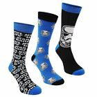 Star Wars Kids 3 Pack Crew Socks Footwear Boys Accessories