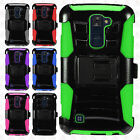 For LG Premier 4G LTE Hybrid Combo Holster KICKSTAND Rubber Case Phone Cover