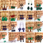 JEWELRY WHOLESALE 20 PAIRS DROP EARRING RUBY EMERALD SAPPHIRE PEARL FREE RUBY