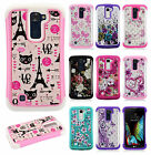 For LG K10 HYBRID IMPACT Hard Dazzling Diamond Case Phone Cover Accessory