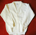 White Fleece lined Cardigan