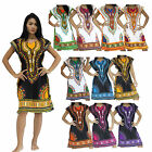 Mini Dress MJF Cotton African Dashiki Kaftan Boho Top Beach Bikini Cover Up Lady