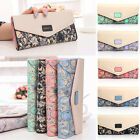 Womens Ladies Long Handbag Bag Envelope Leather Wallets PU Button Clutch Purse