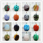 Wholesale 1Pcs Or 2Pcs Or 4Pcs Wrapped Mixed Gemstone Oval Pendant Bead YD01