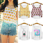 Actual Women Summer Short-cut Crop Vest Tank Tops Digital 3D Print T Shirt tbus