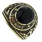 Sheriff Department Black Stone Gold EP 316SS Mens Ring