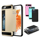 Slide Card Armor Hard Tough Case Cover for Apple iPhone 5 5S SE 6S / 6 / 6S Plus