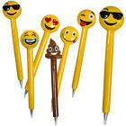16CM EMOJI POLYRESIN BALL POINT WRITING PENS FUNNY GIFT EMOTIONS ICON NOVELTY
