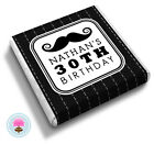 Personalised MOUSTACHE 21st 30th 40th 50th 60th Birthday Party Favour Chocolates