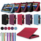 "For 2014 Amazon Kindle Fire HD 7"" Tablet PU Leather Folio Smart Fit Case Cover"