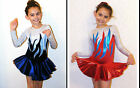 All Sizes *Nevada* Girls Ice skating Dress Baton Twirling costume Tap Leotard