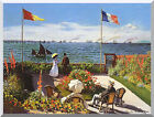 Terrace at Sainte Adresse Claude Monet Painting Repro Stretched Canvas Art Print