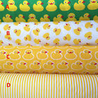 50x160cm Cotton Twill Fabric DIY Bed Sheet Quilt Covering Yellow Duck AB 704-5 B