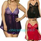 Sexy Soft Babydoll Lingerie Sleepwear Night gown 3X 4X 5X 6X Plus Size 22 24