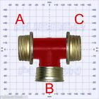 Gas Mask Respirator RED T-Piece Tee Coupler Adapter PLUS Choose Your fittings