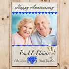 Personalised Sapphire 65th Wedding Anniversary PHOTO Poster Party Banner N73