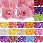 50pcs Artificial Curling Rose Flower Head Fake Rose Wedding Decor Lots 50mm HS7