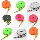 10mm FLAT WIDE SMILEY HAPPY FACE SHOE LACES *6 COLOURS* TRAINERS COLOURFUL LACE