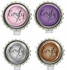 Custom Name Bottle Cap Work ID Badge Holder Identification Card Reel