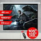 """NEW 105"""" 125"""" Projector Screen Electric Motorised Home Theatre 3D Projection"""