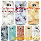 Fashion Marble Texture Case Cover for Samsung S6 S7 edge+ S5 TPU Clear Soft Skin