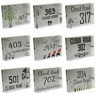 NEW Personalized Modern House Number Door Sign Plaque Street Acrylic Matte Glass