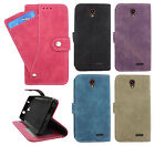 For Cricket ZTE Sonata 3 Z832 Premium Slide Out Pocket Wallet Case Pouch Cover
