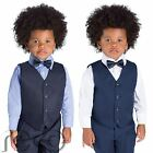 Boys Navy Suits, Page Boys Suits, Waistcoat Suits, Mesh Blue Suit, 3m - 8 yrs