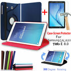 360 Rotating Stand Case + Screen Protector For SAM Galaxy Tab E 8.0 T375 T377