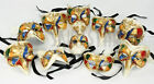 AUTHENTIC Made in Italy Venetian Mask Miniature Party Favor Napkin Ring Decor Sm