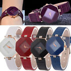 Fashion Women Diamond Leather Stainless Steel Analog Quartz Wrist Watch NEW JYL