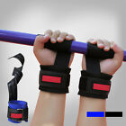 Power Weight Lifting Wrist Wraps Supports Gym Training Fist Straps Black/Blue