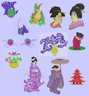 Oriental 3 Machine Embroidery Designs CD-13 designs 4x4 & 5x7-applique-lacework