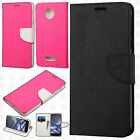For Motorola Moto Z Force Droid Leather 2Tone Wallet Case Pouch Flip Cover