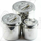 Stainless Steel Surgical Dressing Cotton Jar With Lid  Vet Surgical Jar C E New