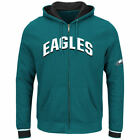 Philadelphia Eagles Majestic Anchor Point Full-Zip Hoodie - Green - NFL