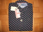 MENS AUTHENTIC PEPE JEANS MARK SLIM FIT SHIRT BLUE DIAMOND L/S UK XLG BNWT