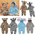 Winter Baby Toddler Infant Animals Costume Fleece Romper Outfits 6-24 months