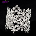 Gold/Silver/Black Lace Flower Leaf Bracelet Cuff Bangles for Women BRA002