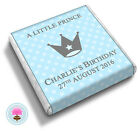 Personalised LITTLE PRINCE Blue Boy Birthday Party Baby Shower Favour Chocolates