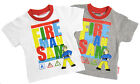 Boys Fireman Sam T-Shirt Summer Top Sleeveless Top 2Y to 6Y Grey or White